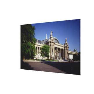 Facade of the Grand Palais Canvas Print