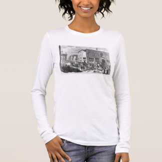 Facade of the Hotel Drouot, Paris, c.1852 (engravi Long Sleeve T-Shirt