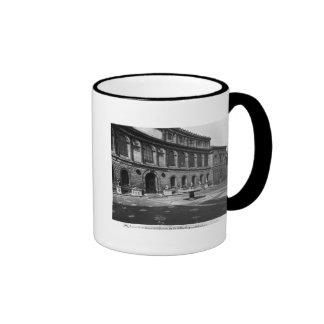 Facade of the library ringer coffee mug