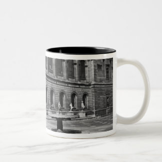 Facade of the library Two-Tone coffee mug