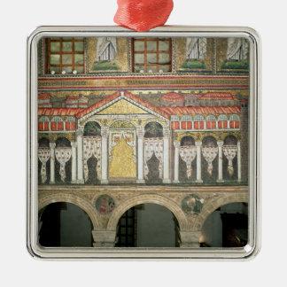 Facade of the Palazzo di Teodorico, 527-99 Silver-Colored Square Decoration