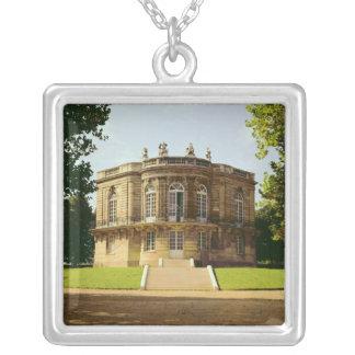 Facade of the Pavillon de Hanovre Silver Plated Necklace