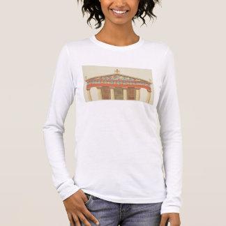 Facade of the Temple of Jupiter at Aegina (323-27 Long Sleeve T-Shirt