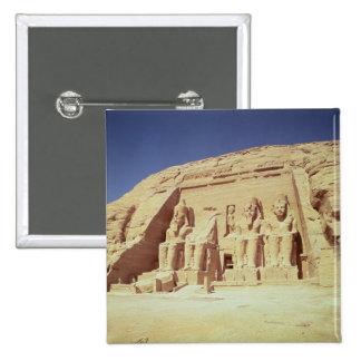 Facade of the Temple of Ramesses II 15 Cm Square Badge