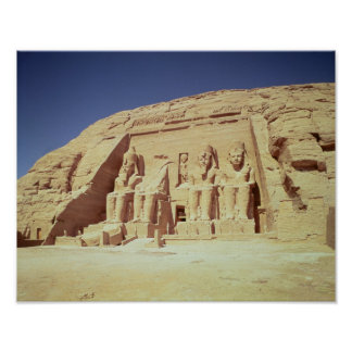 Facade of the Temple of Ramesses II Poster