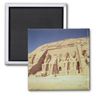 Facade of the Temple of Ramesses II Square Magnet