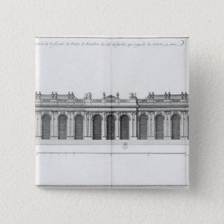 Facade on the Seine of Palais Bourbon 15 Cm Square Badge