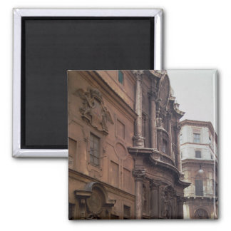 Facades of the church square magnet