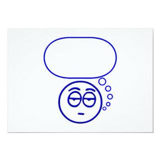 Face #1 (with speech bubble) 13 cm x 18 cm invitation card