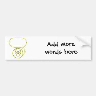 Face #4 (with speech bubble) bumper sticker