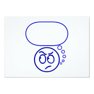 Face #5 (with speech bubble) 13 cm x 18 cm invitation card