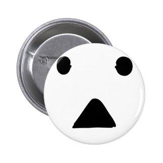 ●▲● face 6 cm round badge