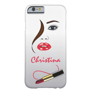 Face and Lipstick Kiss Mirror Slim iPhone 6 6S Barely There iPhone 6 Case