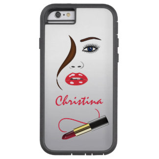 Face and Lipstick Kiss Mirror Xtreme iPhone 6 Case