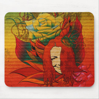 face AND ROSE Mouse Mat