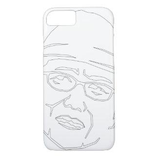 Face black line iPhone case