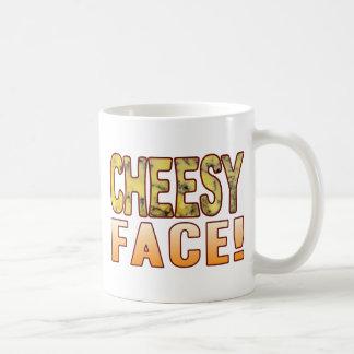 Face Blue Cheesy Coffee Mug