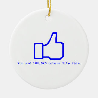 Face Book Slogan Christmas Ornament