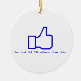Face Book Slogan Round Ceramic Decoration