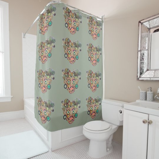 Face by LH Shower Curtain