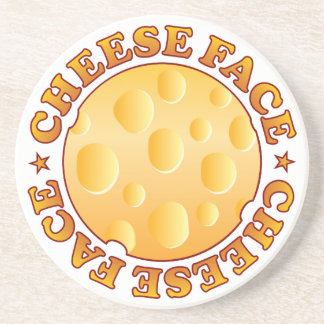 Face Cheese Brown Beverage Coasters