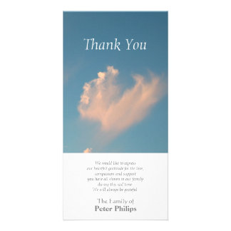 Face Cloud 3 Sympathy Thank You Photo card