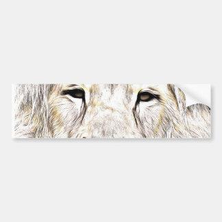 Face de leão Lion Face Löwen-Gesicht Face de Lion Bumper Stickers