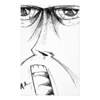 Face drawing sketch art handmade customised stationery