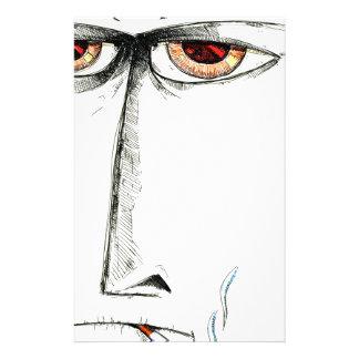 Face drawing sketch art handmade custom stationery