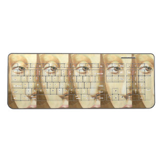 Face Illusion Wireless Keyboard