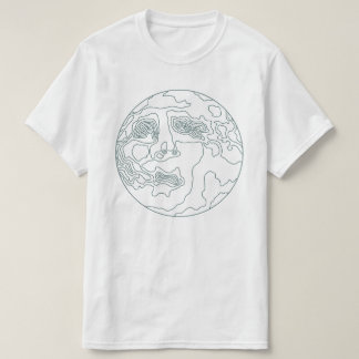 face in the moon T-Shirt