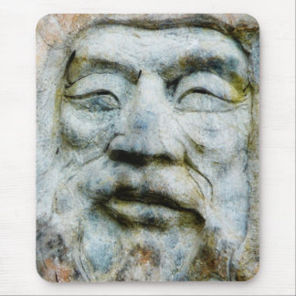 Face In The Stone Mouse Pad