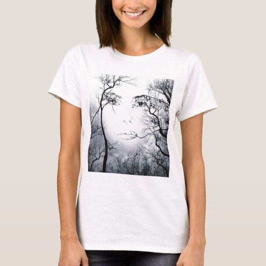 face-in-trees-illusion T-Shirt