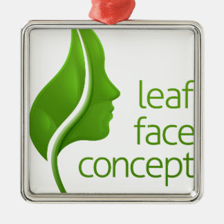 Face Leaf Concept Christmas Ornament