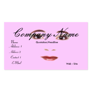 Face lips and eyes business card customizable