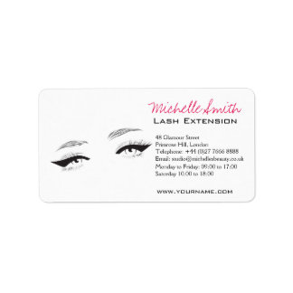 Face long lashes eyeliner Lash Extension Address Label