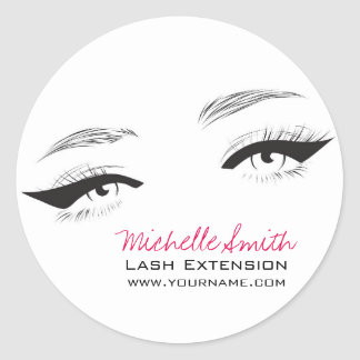 Face long lashes eyeliner Lash Extension Classic Round Sticker