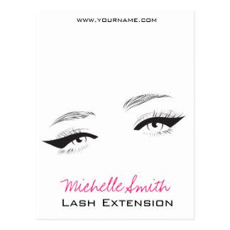 Face long lashes eyeliner Lash Extension Postcard