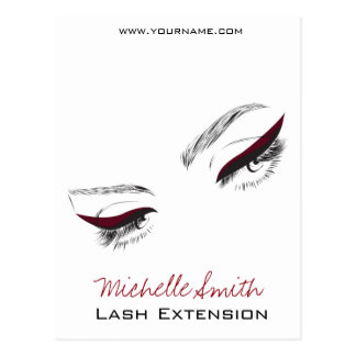 Face long lashes eyeliner Lash Extension Postcard