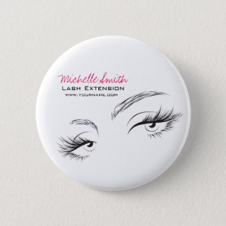 Face long lashes Lash Extension 6 Cm Round Badge
