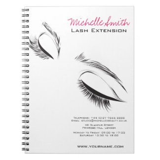 Face long lashes Lash Extension Spiral Notebook