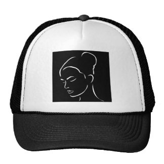 Face of a beautiful young woman cap