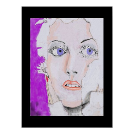 Face of a Blue Eyed Girl Poster