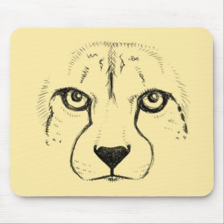 Face of a Cheetah Mouse Pad