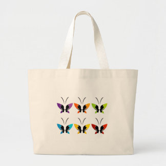 Face of a lady and butterfly canvas bag