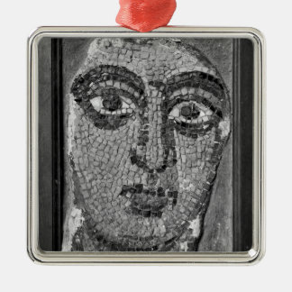 Face of a lady from the Church of St-Ambrosius Silver-Colored Square Decoration