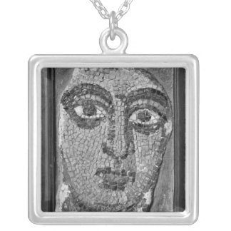 Face of a lady from the Church of St-Ambrosius Silver Plated Necklace