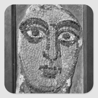 Face of a lady from the Church of St-Ambrosius Square Sticker