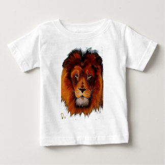 Face of a lion realistic painted tee shirts