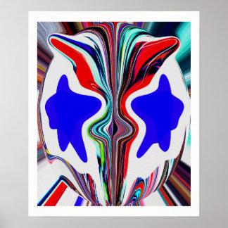 Face of an alien poster